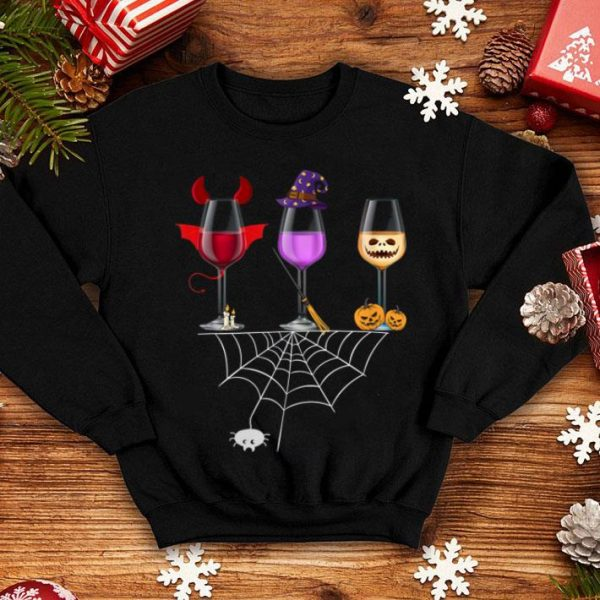 Wine Glass Of Witchcraft Funny Halloween shirt