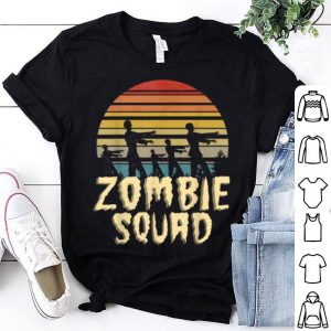 Zombie Squad Retro Halloween Group Costume Boys Girls shirt