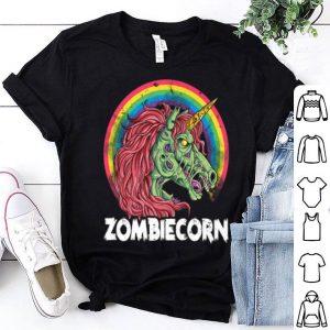 Zombiecorn Zombie Unicorn Halloween Women Rainbow shirt