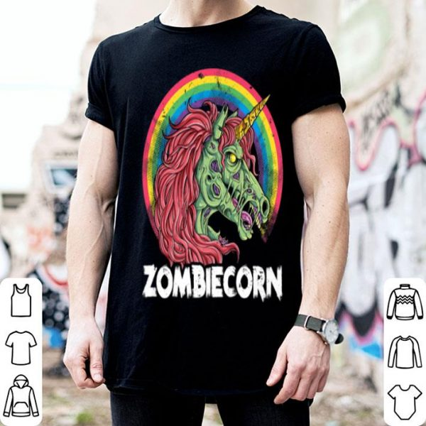Zombiecorn Zombie Unicorn Halloween Women Rainbow shirt