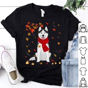 Awesome Cute Siberian Husky Dog Autumn Thanksgiving Gifts shirt