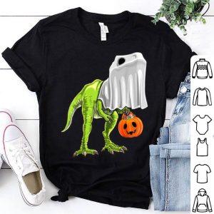 Beautiful Halloween T Rex Dinosaur Ghost Trick or Treat Kids shirt