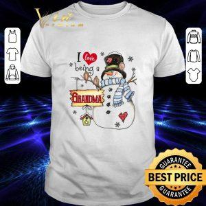 Best Snowman I love being a grandma Christmas shirt