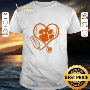 Cool Stethoscope love Clemson Tigers shirt