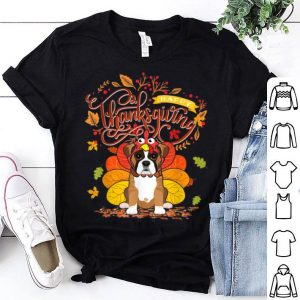 Hot Boxer Wearing Turkey Hat Fall Autumn Happy Thanksgiving shirt