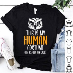 Hot Halloween Funny Adult Kid Owl Apparel, Youth Human Costume shirt