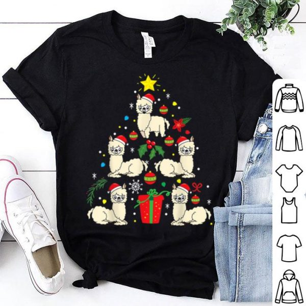 Hot Llama Christmas Ornament Tree Funny Fa la Gift shirt