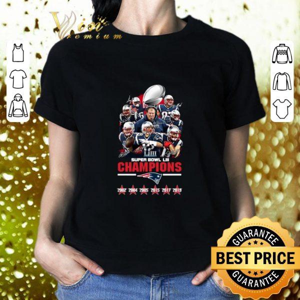 Hot New England Patriots Super Bowl LIII Champions Signatures shirt