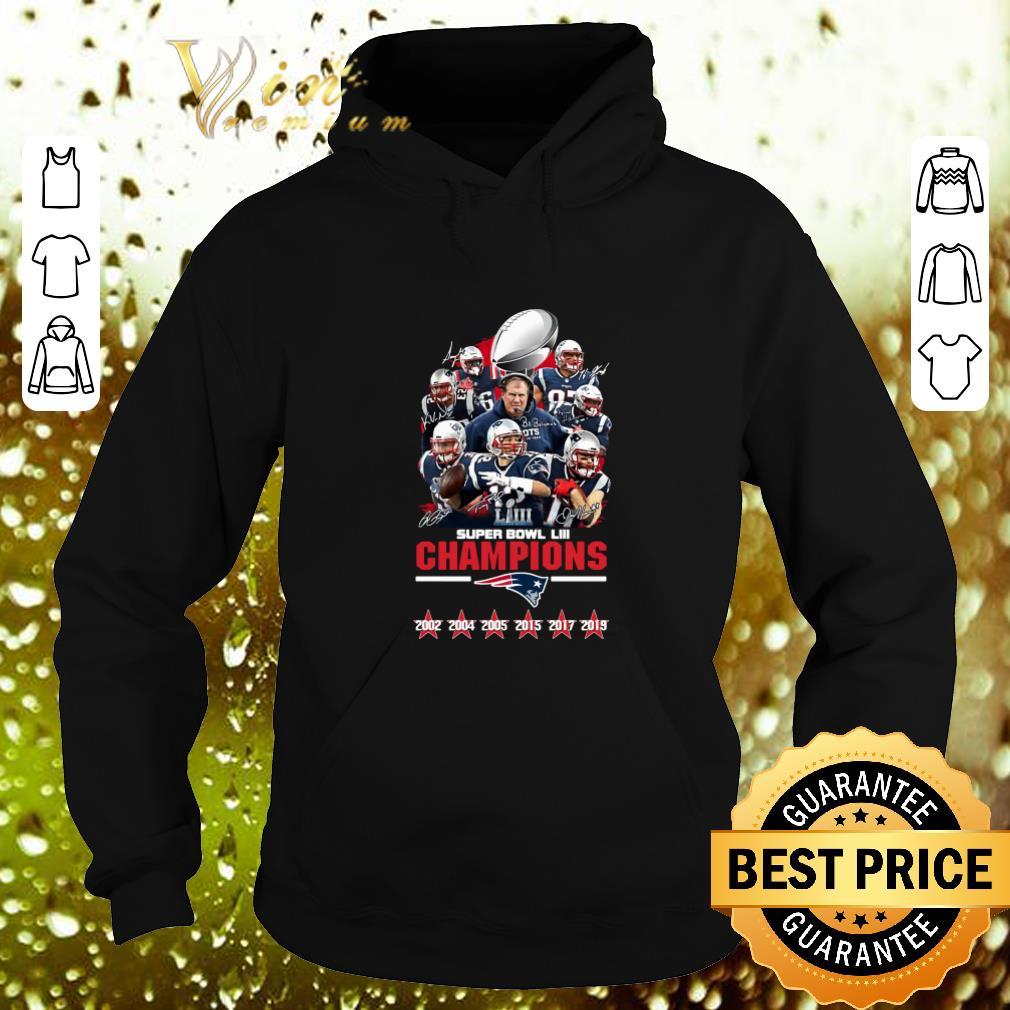Hot New England Patriots Super Bowl LIII Champions Signatures shirt 4 - Hot New England Patriots Super Bowl LIII Champions Signatures shirt