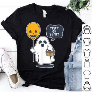 Hot Trick or Treat Funny Ghost Halloween Boys Girls shirt
