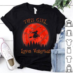 Nice This girl loves Volleyball Halloween Witch lover gift shirt