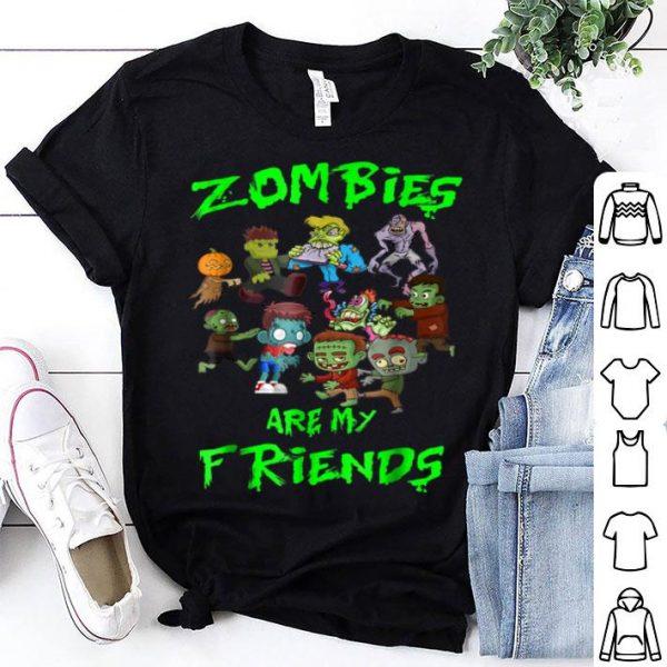 Nice Zombies Are My Friends Halloween shirt