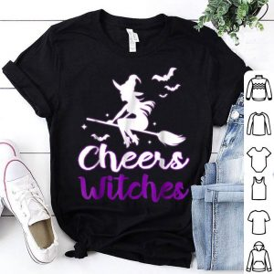Official Cheers Witches Halloween Funny Halloween Bat Tee shirt