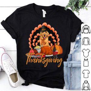 Official Turkey Golden Retriever Funny Wine Thanksgiving Gifts shirt