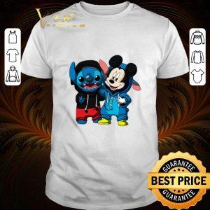 Premium Pretty Baby Mickey and Stitch shirt