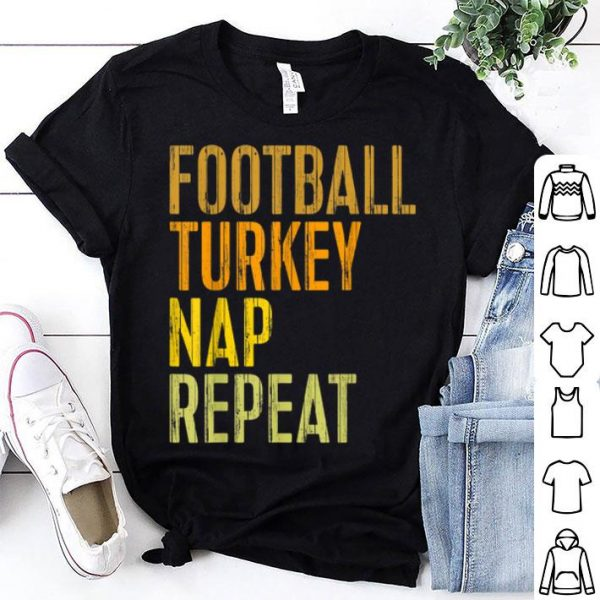 Pretty Football Turkey Nap Repeat Thanksgiving Day Gift shirt
