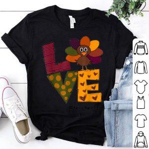 Pretty LOVE TEACHER LIFE Love Turkey Thanksgiving day shirt