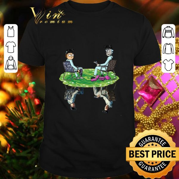 Pretty Rick and Morty Crossover Walter and Jesse Breaking Bad shirt