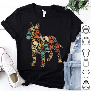 Top BULL TERRIER Skeleton Skull Vintage Retro shirt