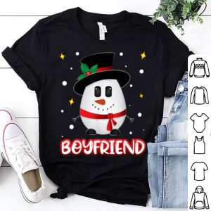 Awesome Boyfriend Snowman Christmas Xmas Couples Outfits shirt