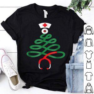Awesome Christmas Tree Nursing Funny Nurse RN LPN Squad Gift shirt