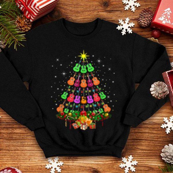 Awesome Funny Ukulele Christmas Tree Merry Xmas Gift Lover sweater