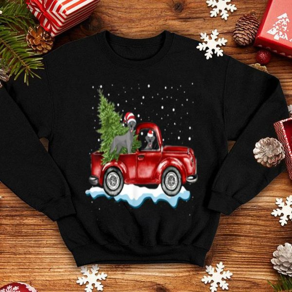 Awesome Great Dane Dog Pickup Truck Christmas Gifts shirt