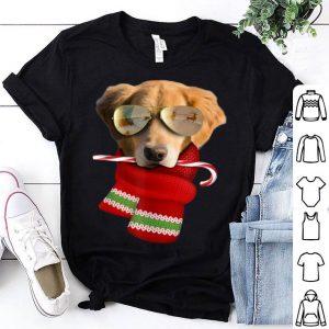 Beautiful Golden Retriever Christmas Gift Dog Lovers SunglassesT-Shirt shirt