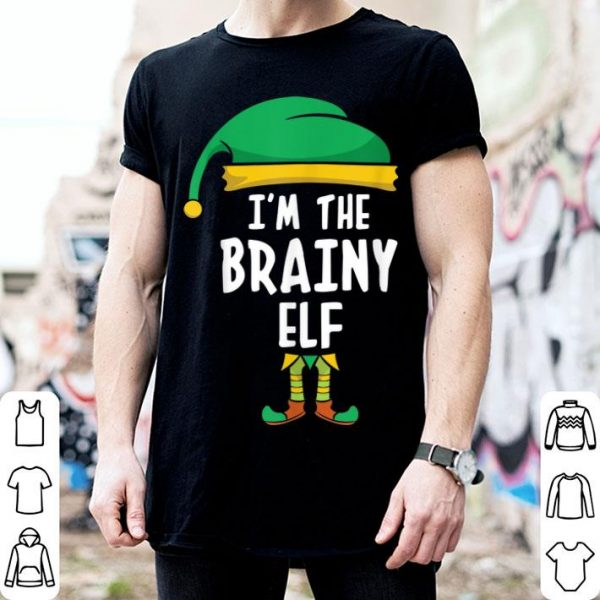 Beautiful I'm The Brainy Elf Matching Family Group Christmas shirt