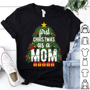 Beautiful Merry Christmas Tree First Christmas As A Mom Xmas New Mom shirt