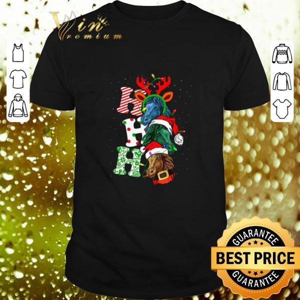 Cool Ho Ho Ho Santa Horse Christmas shirt