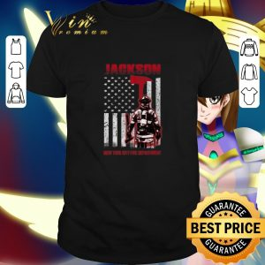 Cool Jackson New York city fire department American flag shirt
