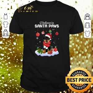 Cool Rottweiler i believe in Santa paws Christmas shirt