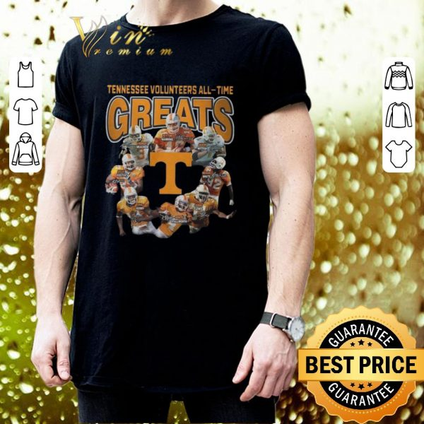 Cool Tennessee Volunteers all-time greats signatures shirt