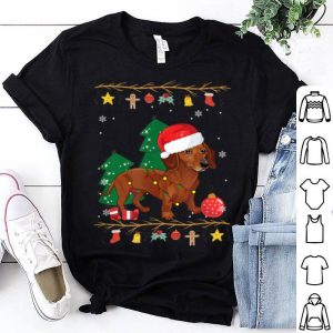 Hot Dachshund Dog Lover Christmas Lights Funny Xmas Gift shirt
