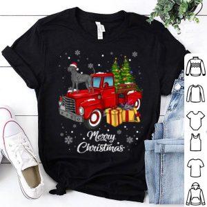 Hot Great dane Rides Red Truck Christmas Pajama Gift shirt