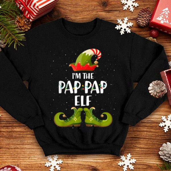 Hot I'm The Pap Pap Elf Matching Christmas Family shirt