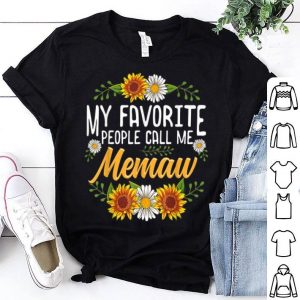 Hot My Favorite People Call Me Memaw Thanksgiving Gifts shirt