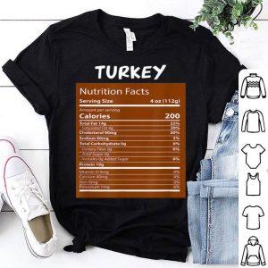 Hot Turkey Nutrition Facts Thanksgiving Costume shirt