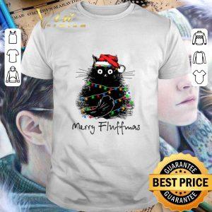 Nice Black Cat Merry Fluffmas shirt