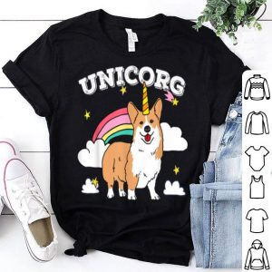 Nice Cute Unicorg Unicorn Corgi Dog Birthday Christmas Boys Girls shirt