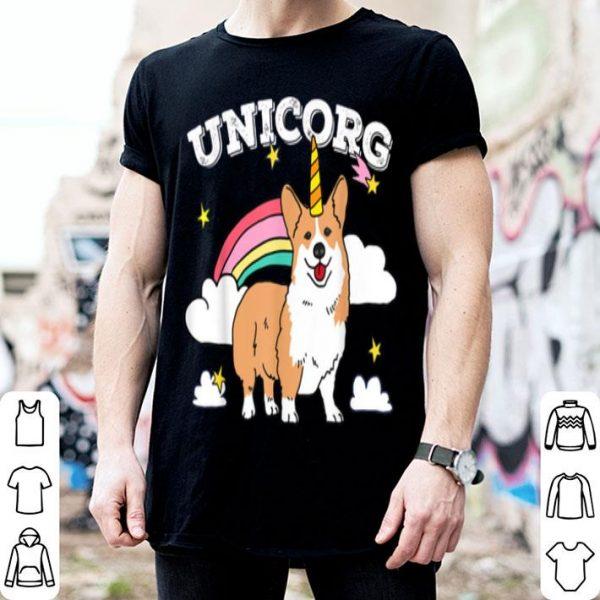 Nice Cute Unicorg Unicorn Corgi Dog Birthday Christmas Boys Girls shirt
