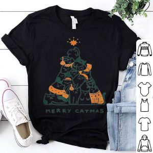 Nice Merry Catmas Funny Cats Christmas Tree Xmas Gift shirt