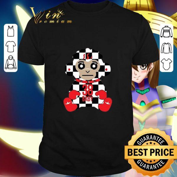 Nice Never Broke Again 38 Baby Monkey Checkers shirt