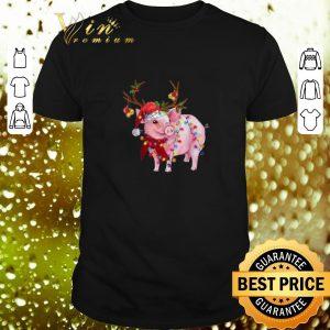 Nice Pig Santa reindeer Christmas Lights shirt