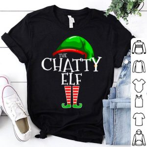Nice The Chatty Elf Group Matching Family Christmas Gift Funny sweater