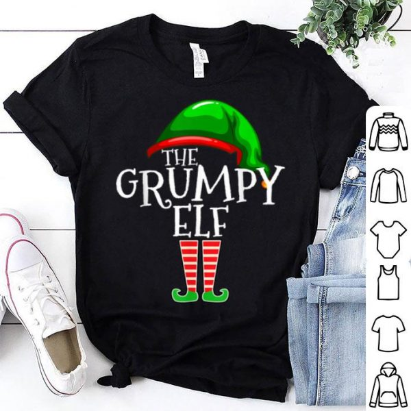 Nice The Grumpy Elf Family Matching Group Christmas Gift Funny shirt
