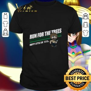 Official Bob Ross run for the trees happy little 5k Michigan State Parks shirt