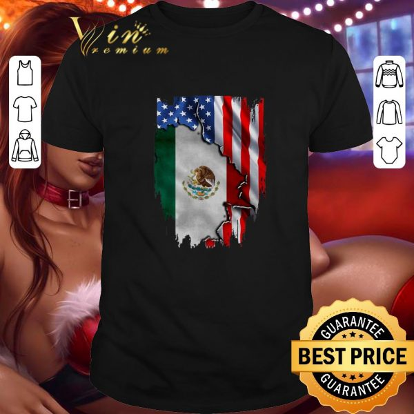 Official Flag American and Mexico shirt