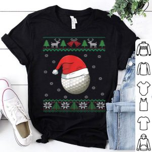 Official Golf Ball Santa Hat Funny Golfer Gift Golfing Ugly Christmas shirt